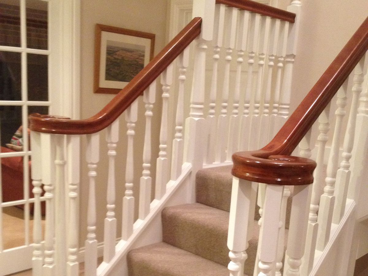 Stairs - After - White and Stain